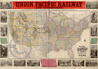 1883 Historical Union Pacific Railway System Map Largest Sizes