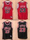NWT Michael Jordan 23 Chicago Bulls Jersey Stiched Red Black Rev30 S 2XL