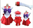 Sailor Moon Sailormoon Mars Red Uniform Costume Cosplay Dress Anime Manga  @@@76