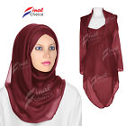 New Large Maxi Plain Scarf Viscose Rayon Shawl Hijab Big Sarong Wrap Cape Scarfs