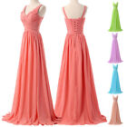 New Chiffon Formal Long Maxi Pleated Party Gown Evening Dress Bridesmaid Dresses