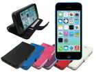 Leather Wallet Case Stand with Soft TPU for Apple iPhone 5c