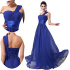 FREE SHIP Sexy Long Evening Party Bridesmaid Wedding Formal Prom Maxi Dress BLUE
