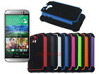 Dual Layer Hybrid Armor Rugged Hard Case for HTC One M8