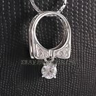 A1-P166 Fashion Solitaire Necklace Pendant 18K GP use Swarovski Crystal