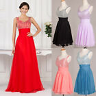 HOT Homecoming Dresses Beaded Bridesmaid Evening Prom Gown Dress Plus Size 6-16+