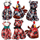CHECK ANIMAL DOOR STOPS - ROOSTER BULLDOG & CATS - FABRIC 1.5KG HOME ACCESSORY