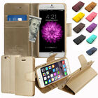 Slim Flip Leathet Stand Wallet Case Cover w/Silicone For iPhone Galaxy LG + Film