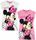Girls Disney Minnie Mouse Nightdress Kids Nightie Nightwear Age 3 4 6 8 Years