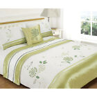 5pc Bed in a Bag Bedding Set with Exquisite Embroidered Floral - Pistachio Green