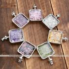 Chip Rock Crystal Quartz Healing Chakra Gemstone Stone Pendant For Necklace Gift