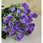1 Bouquet 36 heads Roses Artificial Silk Flowers Wedding Home Office Decoration
