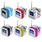 Portable Mini Speaker TT028 MP3 Player Micro SD/TF HiFi LCD PC USB Disk FM Radio