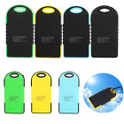 5000mAh Dual-USB Waterproof Solar Power Bank Battery Charger for Phone Camera
