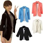 2015 New Style Casual V-neck Small Business Blazer Suit Cotton Jacket 4 Colours