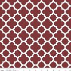QUATREFOIL  - BURGUNDY  - RILEY BLAKE 100% COTTON FABRIC