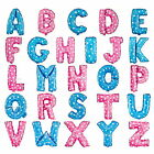"16"" PINK Alphabet Letter Birthday Party Baby Shower Wedding A-Z Foil Balloons"