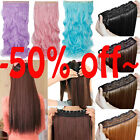"Long Women 17-30"" Clip in Hair Extensions Half Full Head Black Brown Blonde MU"