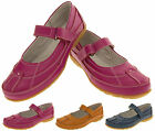 Ladies COOLERS LEATHER Shoes Womens Velcro Strap Flat Work Pumps Size 4 5 6 7 8