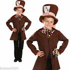 CHILDS KIDS MAD HATTER WONDERLAND TEA PARTY BOOK WEEK DAY FANCY DRESS COSTUME