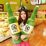 35'' & 27'' No Alcohol Wine Bottle Hold Pillow Plush Beer Soft Toy Creative Gift