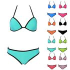 Candy Color Women's Beach Bikini Suit Push-up Tops and Bottoms Beachwear