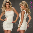 Sleeveless Lace Mini Dress Evening Occasion Formal Cocktail Size 4 6 8 10 12 S M