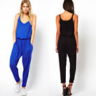 Sexy Womens Plunge Strap High Waist Romper Trousers Party Club Casual Jumpsuit C