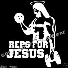 REPS FOR JESUS T SHIRT weight training lifting Bro Science fitness gym mens BNWT