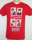 NEW The Beatles Red T Shirt Las Vegas 1964 Show Ticket Cards John Paul Ringo Geo
