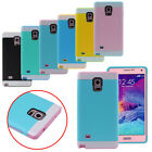 2015 2in1 Hybrid Impact Hard Case Cover Skin For Samsung Galaxy Note 4 Trendy