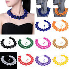 New Fashion Jewelry Set Grass Pearl Beads Statement Collar Bib Necklace Earrings