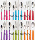 COLOURFUL STAINLESS STEEL CUTLERY - Everyday, Picnic, Camping, Party, BBQ