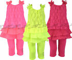 Girls Top & Leggings Set Full 2 Piece Outfit Kids Summer Clothing Ages 2-10 year