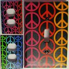 Rainbow Peace Signs custom Light Switch wall plate covers man cave decor