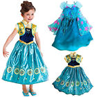 New Frozen PrincessElsa and Anna costume party fancy dress cosplay 9M-5yrs