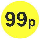 Large 45mm Bright Yellow & Black Price Point Stickers / Sticky Labels 99p £1.99