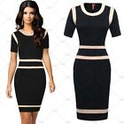 Womens Vintage Business Work Wear Office Party Bodycon Dresses Size 810246