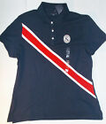 Tommy Hilfiger Womens Polo Shirt Dark Blue Red White Size XLarge NWT
