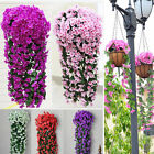 1 Bunches of Artifical Lily Bracketplant Hanging Garland Vine Flower Traling New
