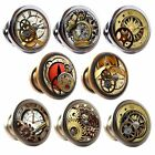 Zinc Alloy Knobs Steampunk 30mm Cupboard Drawer Door Handles Decorated