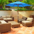 8' 9' 13' Outdoor Patio Wood Umbrella Wooden Pole Market Beach Garden Sun Shade