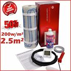 Electric Underfloor Undertile Heating Kit 200w 2.5m2 Thermopads FREE Delivery