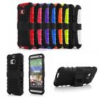 2015 Hybrid Armor Rugged Hard Case Cover чехол Stand Skin For HTC One M8 Trendy
