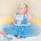 Girls Baby Toddler Disney Princess Cinderella Panto Fancy Dress Costume Outfit