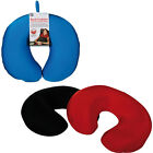 SOFT TRAVEL NECK PILLOW CUSHION MICRO BEADS SLEEP SUPPORT CAR PLANES NEW HANGING