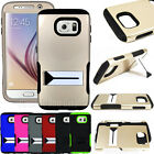 Heavy Duty Hybrid Dual Layer Impact Shock Proof Stand Cover Case for Cell Phones