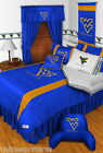 West Virginia Mountaineers Comforter Sham Bedskirt Pillowcase Twin to King Sets