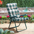 Alfresia Garden Recliner Chair with Luxury Cushion (Green Frame)