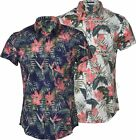 New Mens Fashion Hawaiian Shirt Epping Floral Short Sleeve Casual 100% Cotton